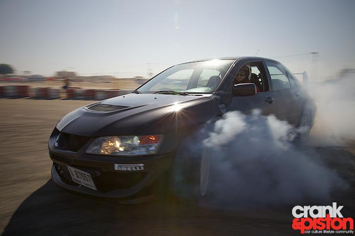 Evo 8 // Caught in the smoke - crankandpiston.com