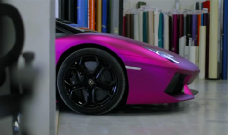 lamborghini aventador purple chrome matte video - Lamborghini Aventador Chrome Purple