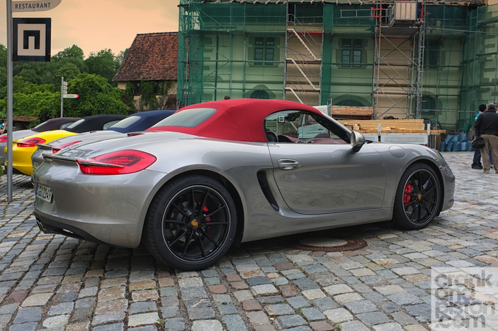 one thats particularly caught my eye is the platinum silver boxster s with red leather interior and matching roof and calipers a bit outlandish true