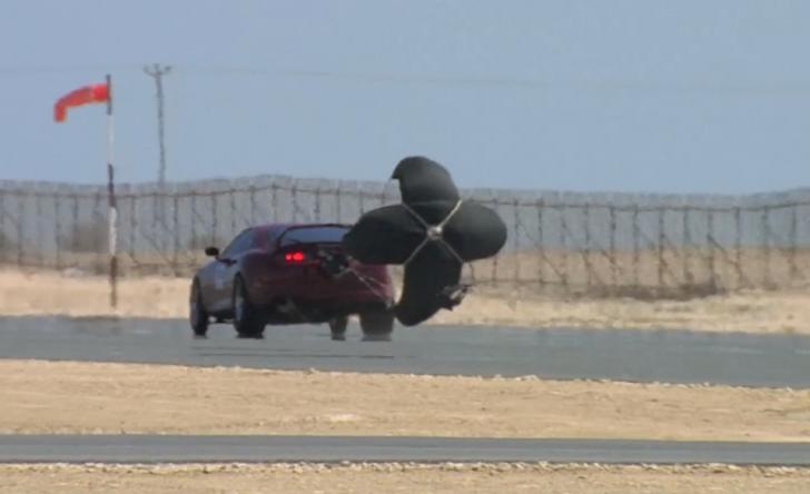 Qatar-Mile-Toyota-Supra-Drogue-Parachute