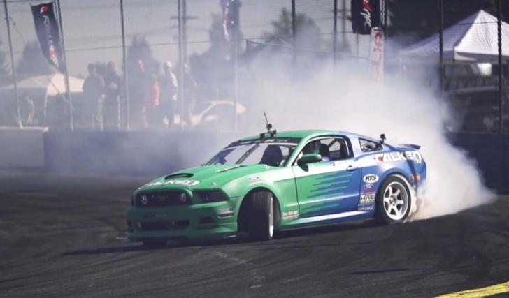 Formula-Drift-Justin-Pawlak-Falken-Tire-Ford-Mustang-Seattle-Wall-Speedway-Round-Five