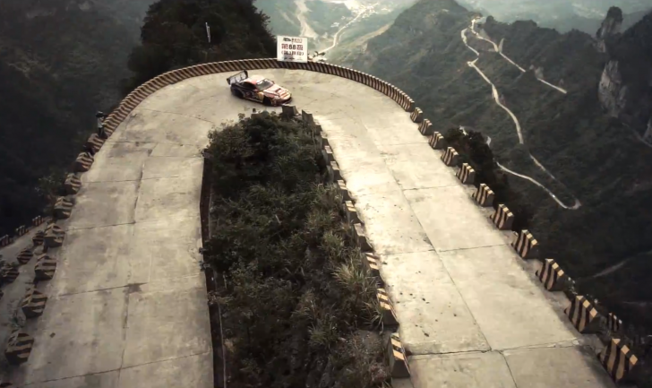 Red Bull. Tianmenshan Mountain Drift. China - crankandpiston.com