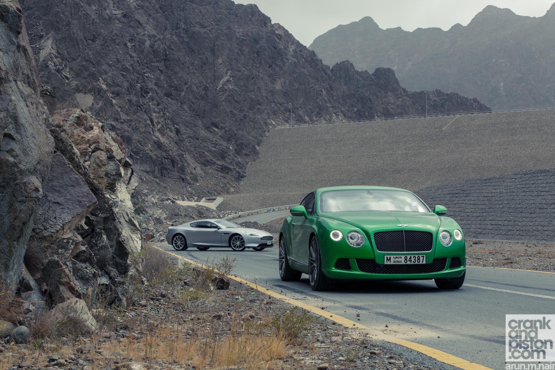 Aston Martin Db9 Vs Bentley Continental Gt Speed Crankandpiston Com