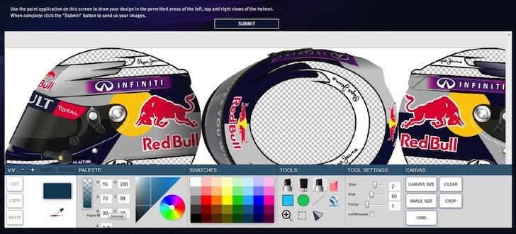 Online Competition to Design Sebastian Vettel's Helmet