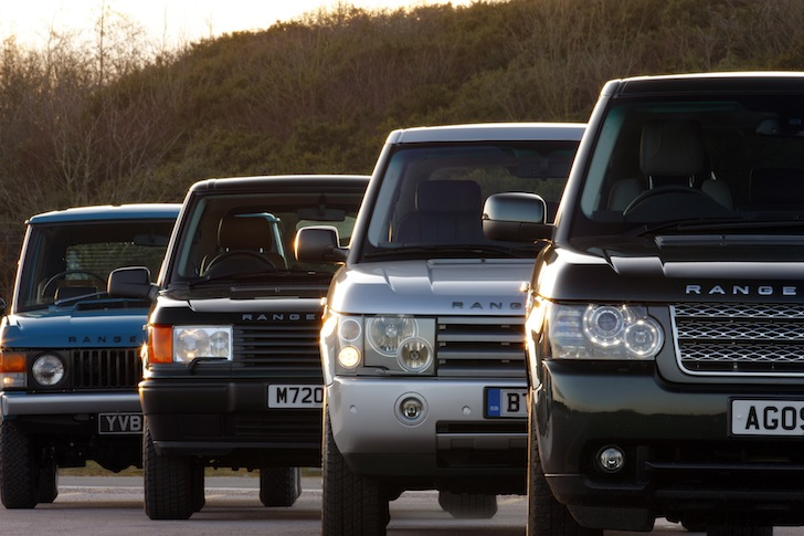 Range Rovers through the years