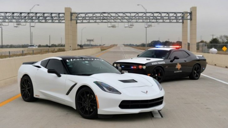 Corvette C7 with added Hennessey. 200mph in Texas