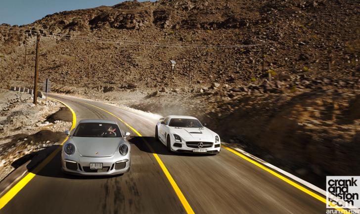 Mercedes-Benz-SLS-AMG-Black-Porsche-911-GT3-10