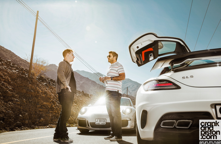 Mercedes-Benz-SLS-AMG-Black-Porsche-911-GT3-12