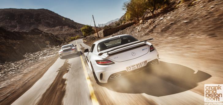 Mercedes-Benz-SLS-AMG-Black-Porsche-911-GT3-18