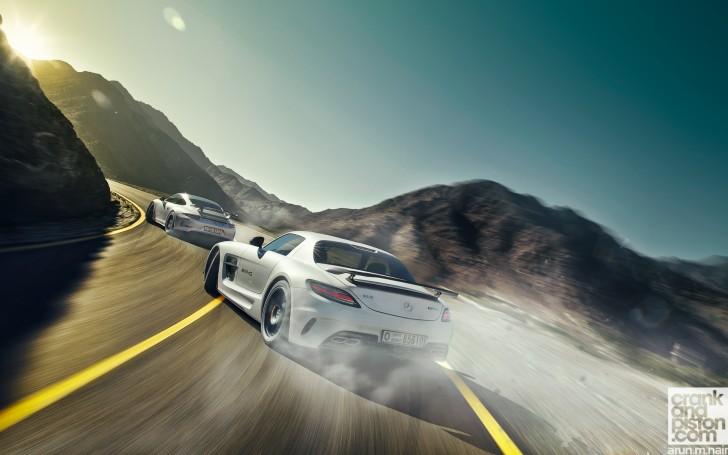Mercedes Sls AMG-Black Series Vs Porsche 911 GT3 wallpaper