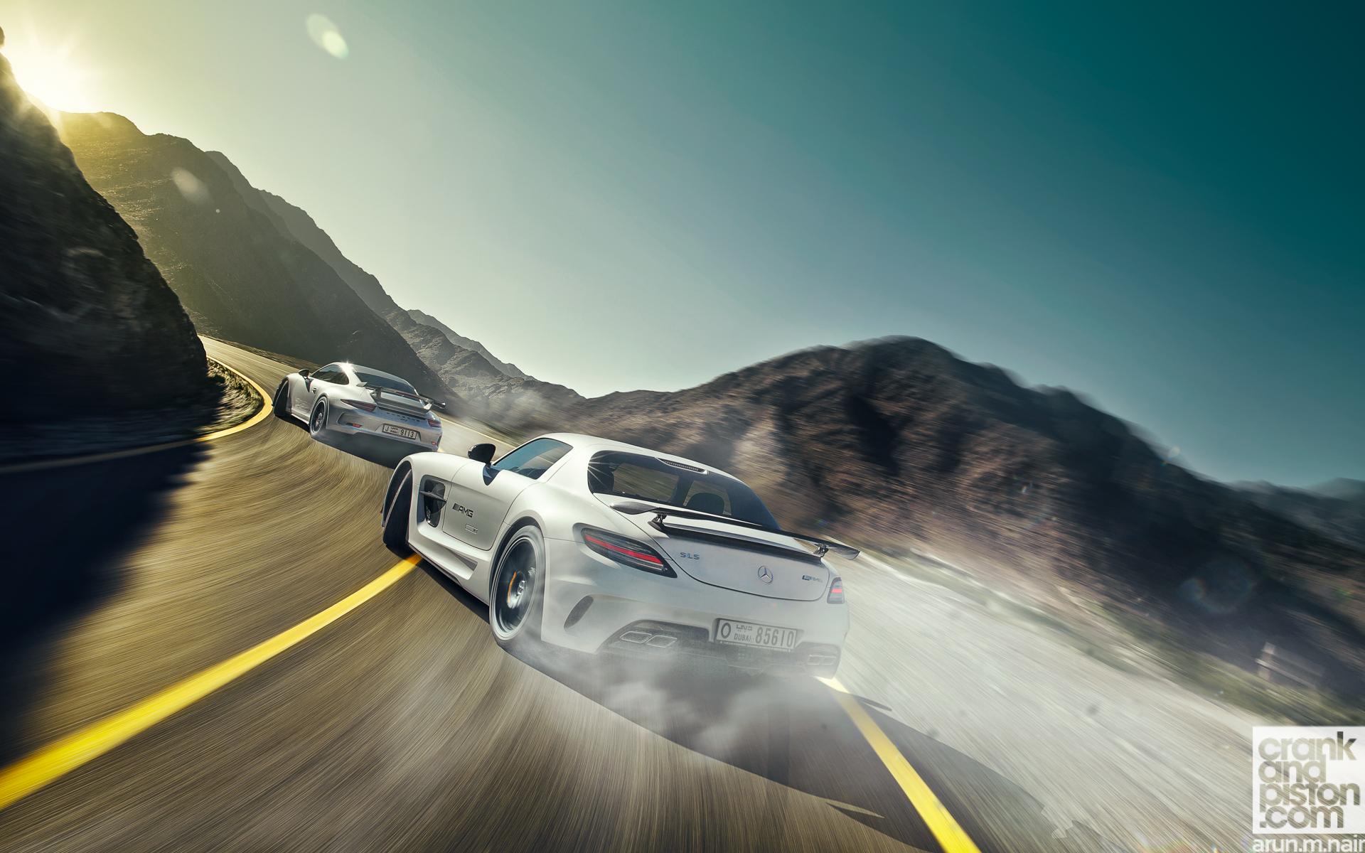 Porsche 991 Gt3 Vs Mercedes Sls Amg Black Crankandpiston Com