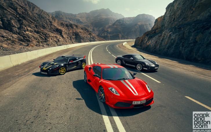 Ferrari-F430-Scuderia-Porsche-Cayman-R-Lotus-Exige-Cup-260-Wallpaper-03