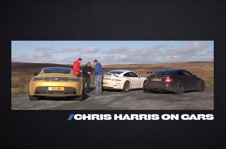 Porsche GT3, Aston Martin V12 Vantage S, Mercedes C63 AMG Black Series - :CHRIS HARRIS ON CARS