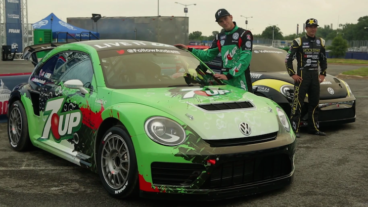 Tanner Foust & Scott Speed Talk VW Beetle Racecar