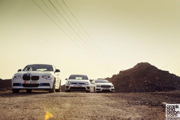 BMW M135i vs Mercedes-Benz A 45 AMG vs Volkswagen Golf R Wallpapers-02