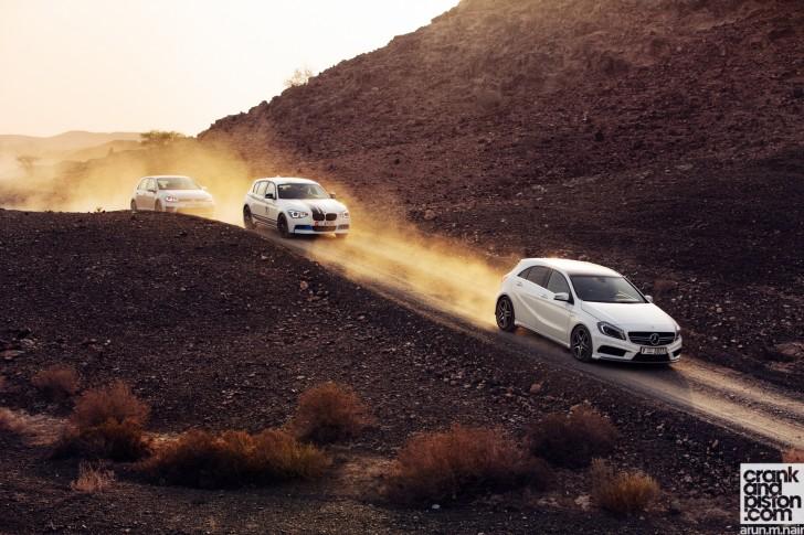 BMW M135i vs Mercedes-Benz A 45 AMG vs Volkswagen Golf R Wallpapers-03