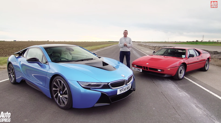 Old V New Bmw I8 V Bmw M1 On The Track Crankandpiston Com