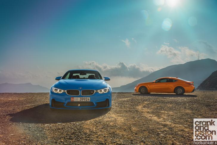 BMW M4 Convertible vs Lexus RC F-49