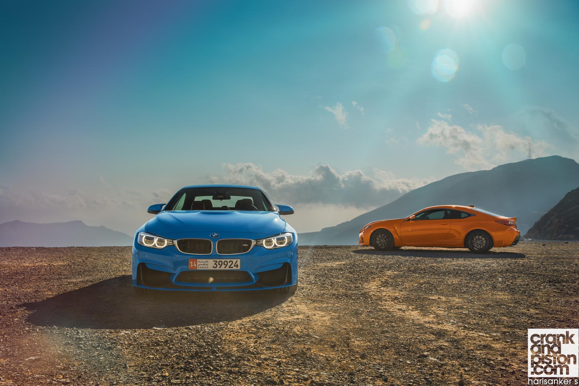 BMW M4 Convertible vs Lexus RC F crankandpiston Wallpapers-02