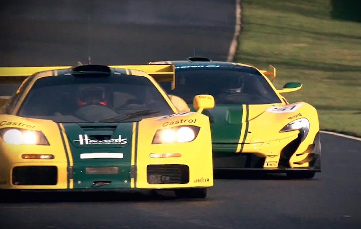 McLaren F1 GTR meets P1 GTR