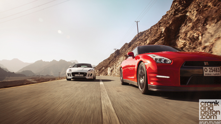 Nissan GT-R vs Jaguar F-TYPE vs Aston Martin DB9-30