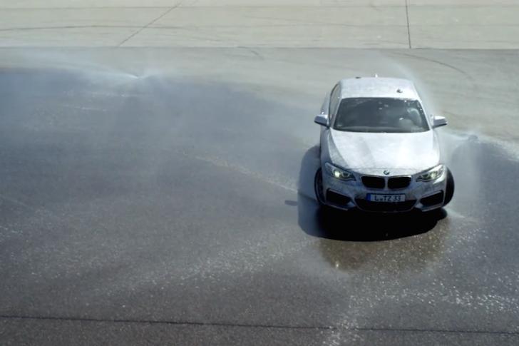 Self-drifting BMW M235i 01