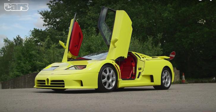 Chris Harris on Bugatti EB110 SS 01