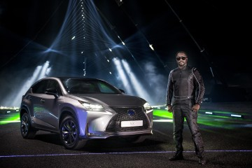 will.i.am and Lexus create music with lasers and sound