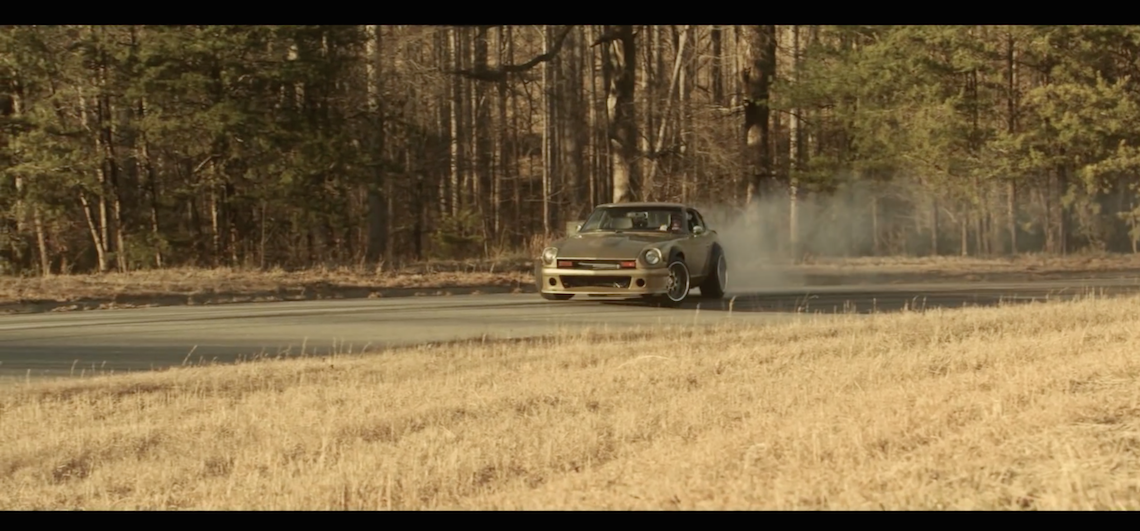 VIDEO. A sideways Datsun; what's not to love?