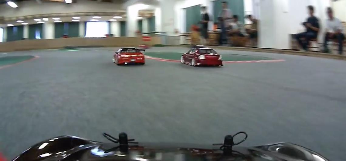 VIDEO. On-board an RC drift car