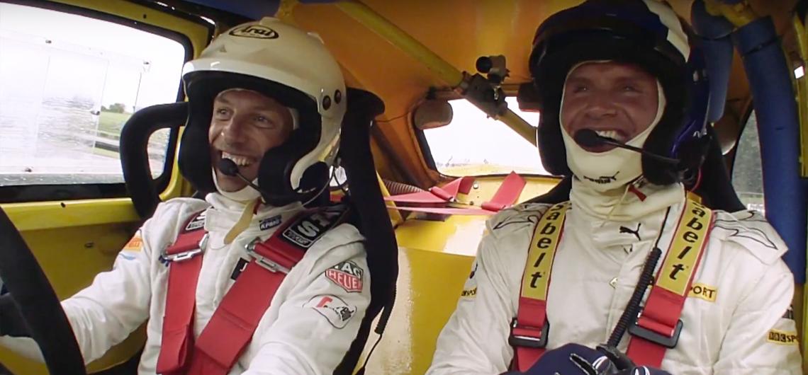 RallyCross. Jenson Button vs David Coulthard