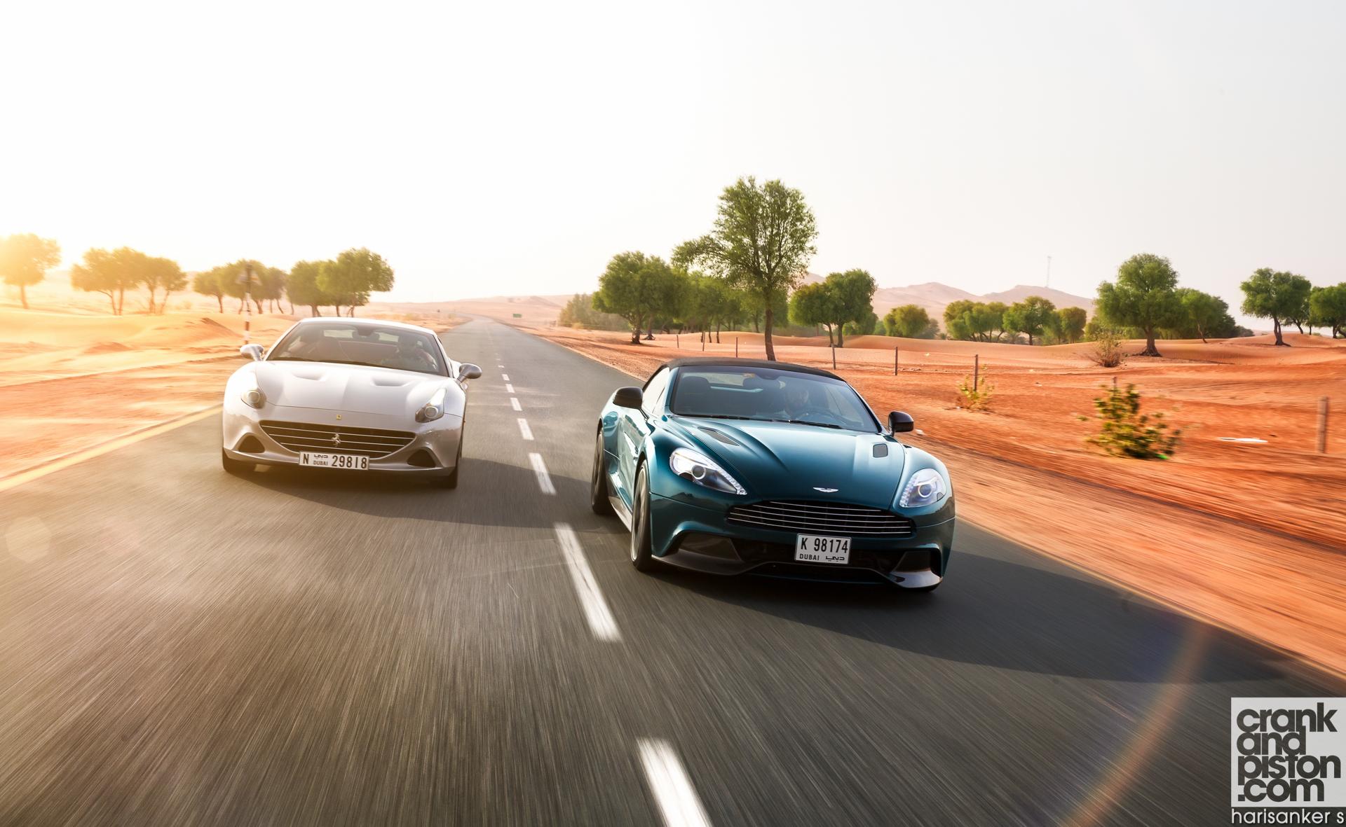Ferrari California T vs Aston Martin Vanquish Volante Wallpapers-1
