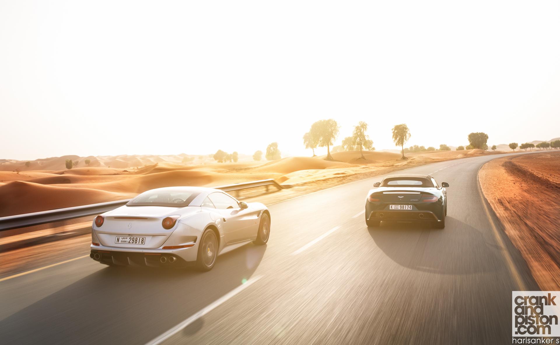 Ferrari California T vs Aston Martin Vanquish Volante Wallpapers-4