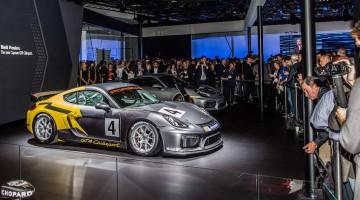 Der neue Porsche GT4 Clubsport auf der Los Angeles Auto Show 2015 The new Porsche GT4 Clubsport at the Los Angeles Auto Show 2015