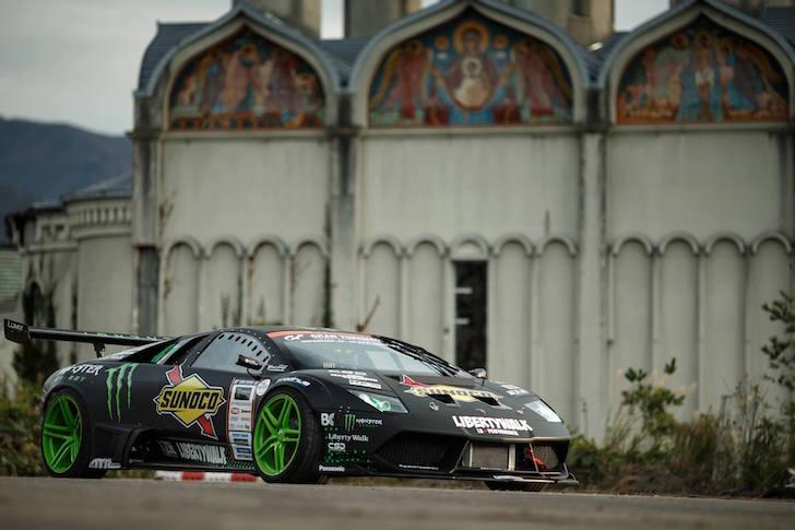Battledrift Lamborghini Murcielago Daigo Saito Ford Mustang Vaughn Gittin Jr 02