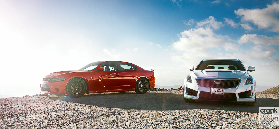 Cadillac CTS-V vs Dodge Charger SRT Hellcat ...