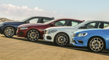 Jaguar XE S vs Volvo S60 Polestar vs Mercedes C 450 AMG Sport vs BMW 340i crankandpiston-121