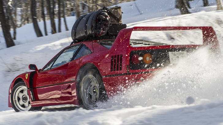 Ferrari F40 Ski Slope 02