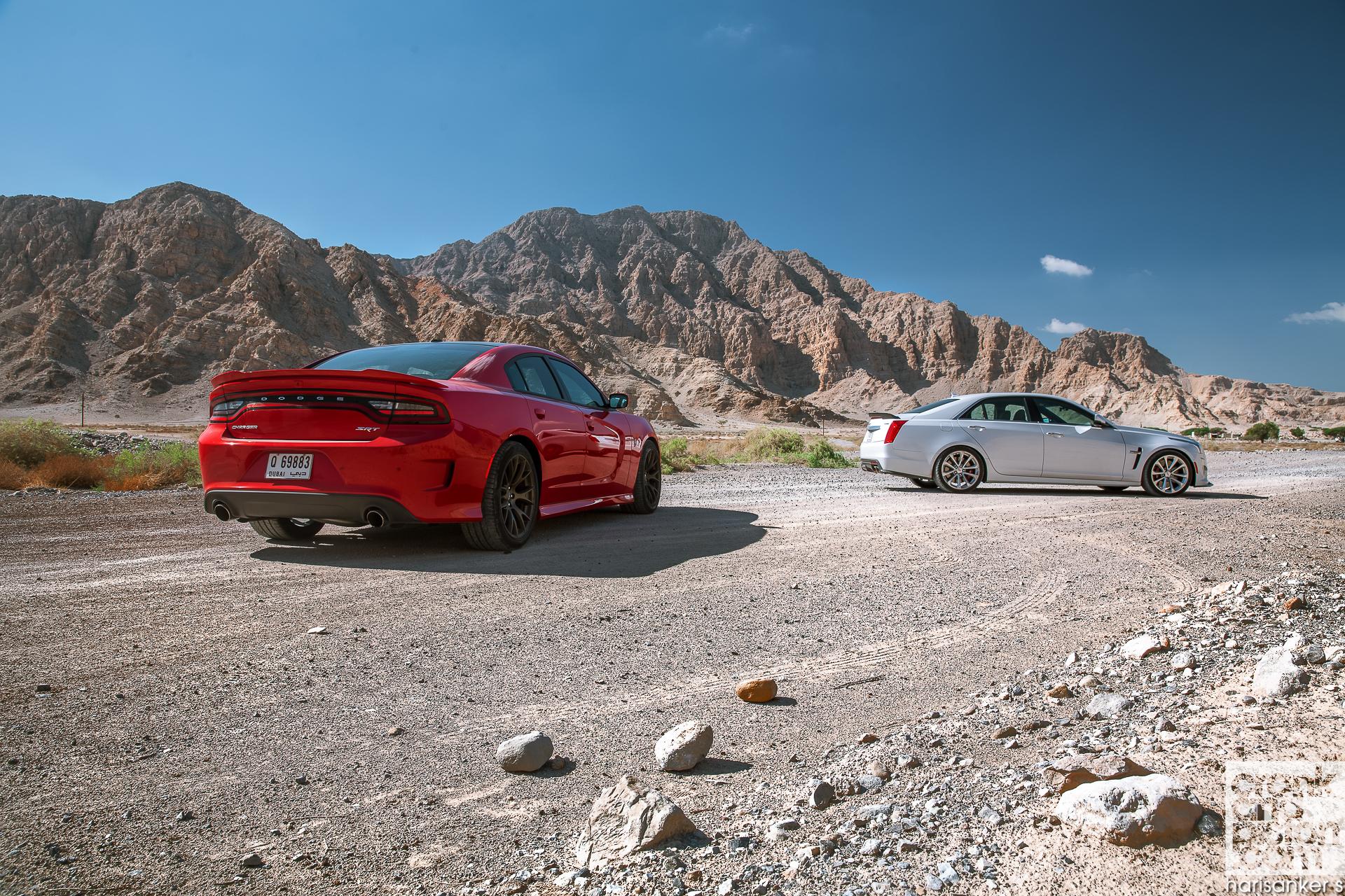 Cadillac CTS-V vs Dodge Charger SRT Hellcat. Set 2 ...
