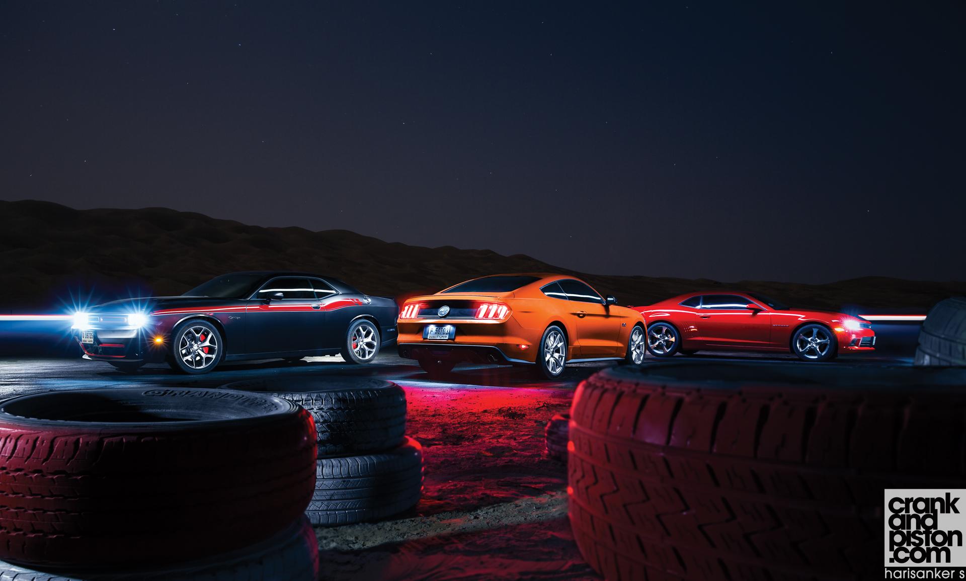 Mustang Gt Vs Challenger R T Vs Camaro Ss Set 2