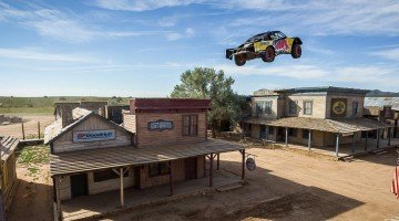 Bryce Menzies jumps at Red Bull New Frontier at Bonanza Creek Ranch in Santa Fe, New Mexico, USA on 25 August 2016. // Garth Milan/Red Bull Content Pool // P-20160828-02076 // Usage for editorial use only // Please go to www.redbullcontentpool.com for further information. //