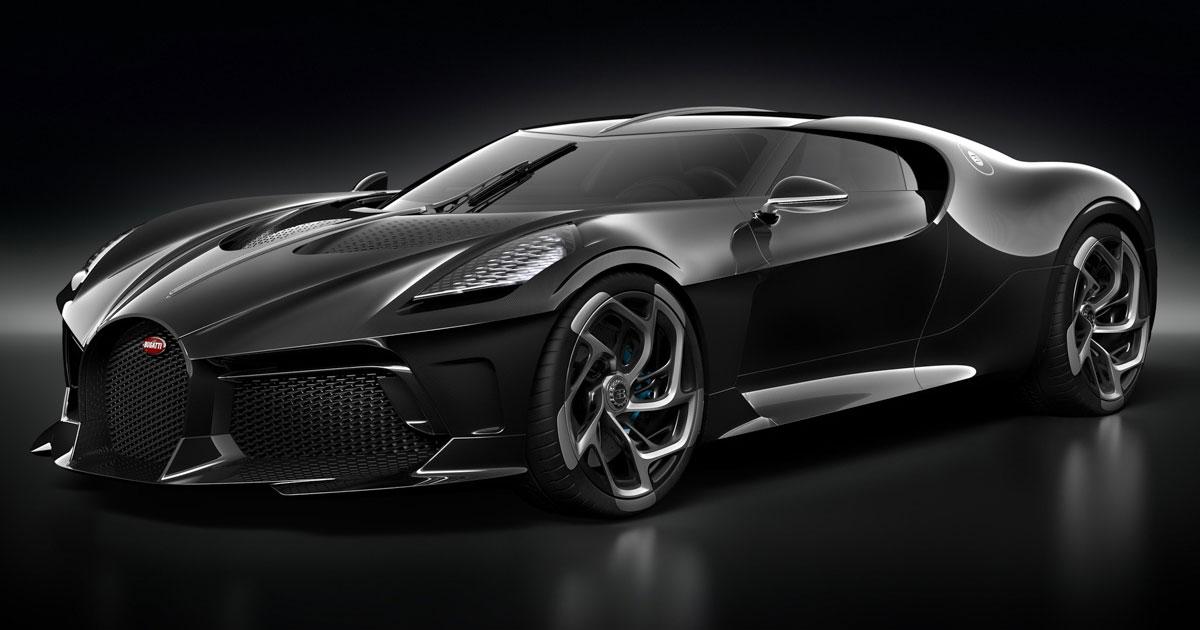 Bugatti 'La Voiture Noire' revealed - one-off Chiron references classic 57SC Atlantic