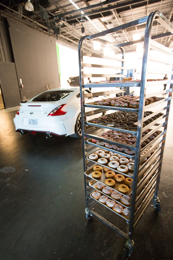 How to make a donut, by the Nissan 370Z NISMO