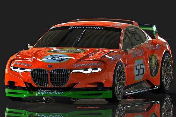 BMW 3.0 CSL Hommage Jagermeister by Benoit Fraylon