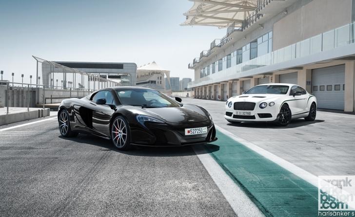 Bentley GT3-R vs McLaren 650S Spider-01