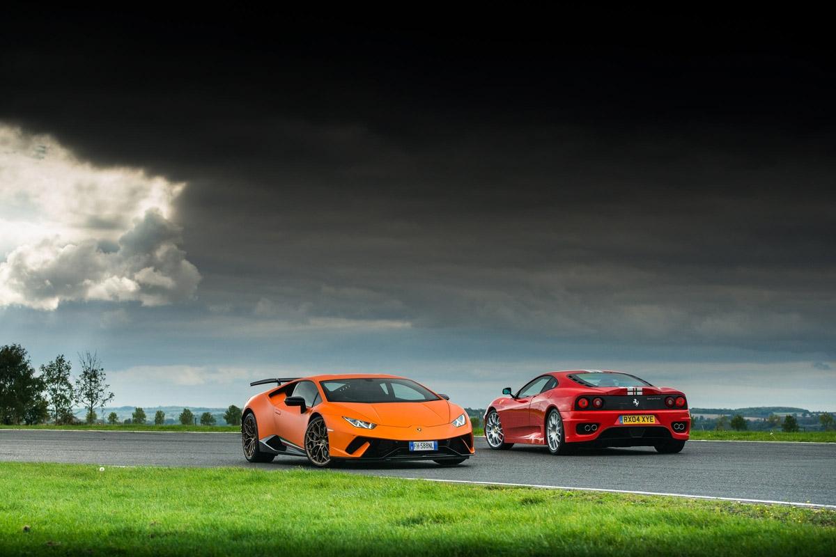 Ferrari 360 vs Lamborghini Huracan-1