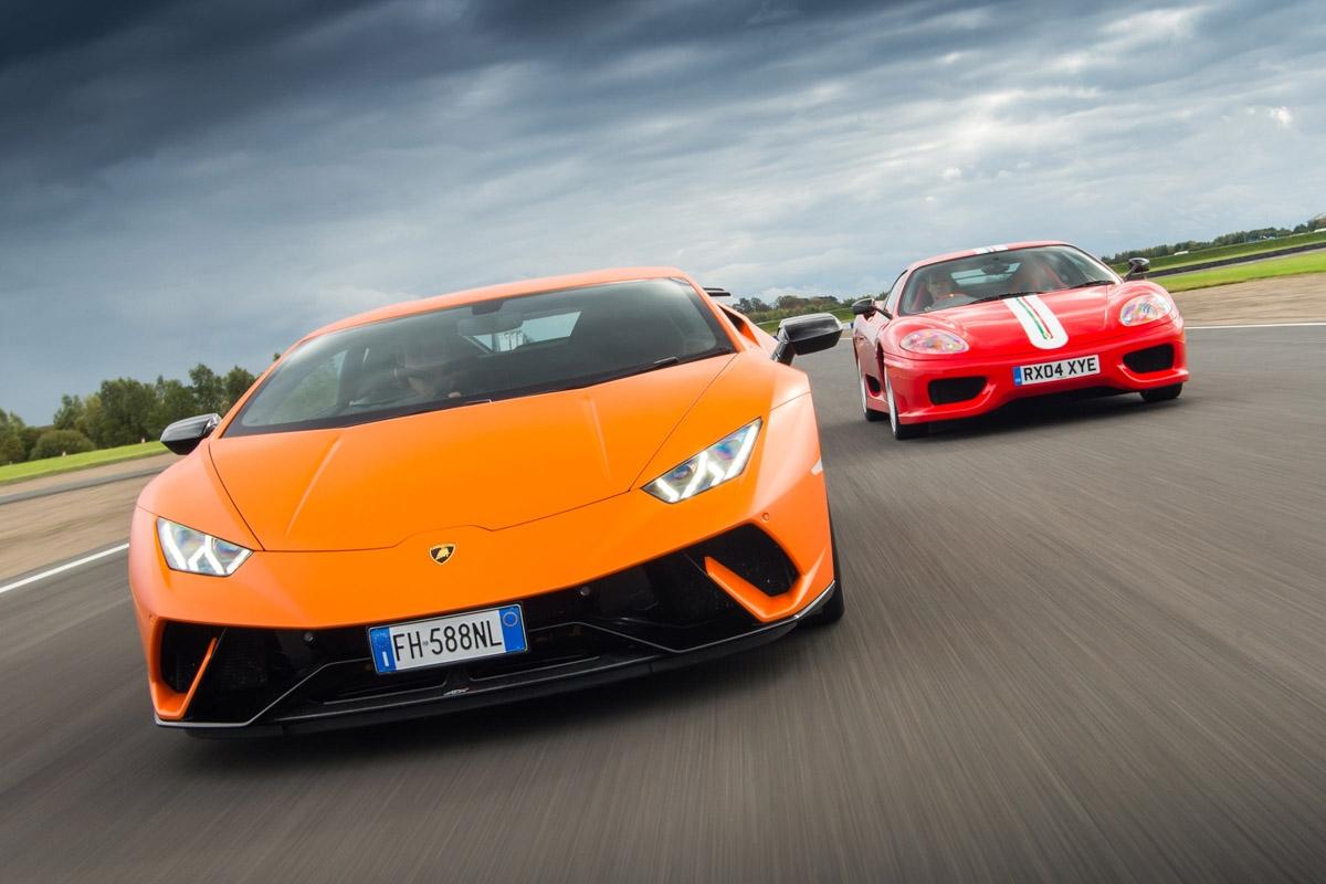 Ferrari 360 vs Lamborghini Huracan-2