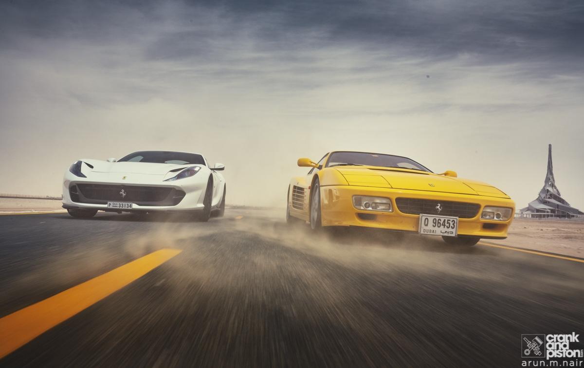 Ferrari 512TR and 812 Superfast-1