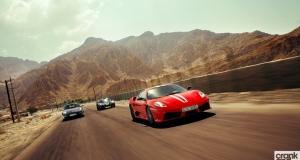 Ferrari F430 Scuderia vs Porsche Cayman R vs Lotus Exige Cup 260