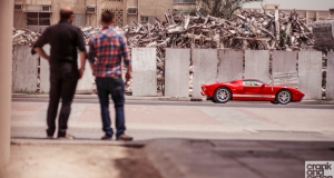 Ford GT vs Nissan GT-R. Dubai, UAE